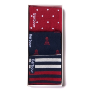 Barbour Beacon Stripe 3 Pack Socks