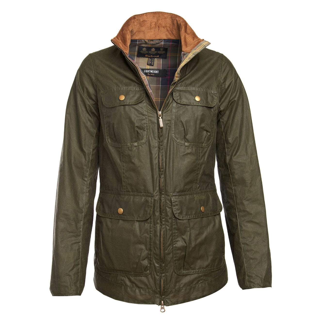 Barbour Womens Lightweight Beadnell 4oz Wax Jacket Archive Olive ... 35814bdbf0