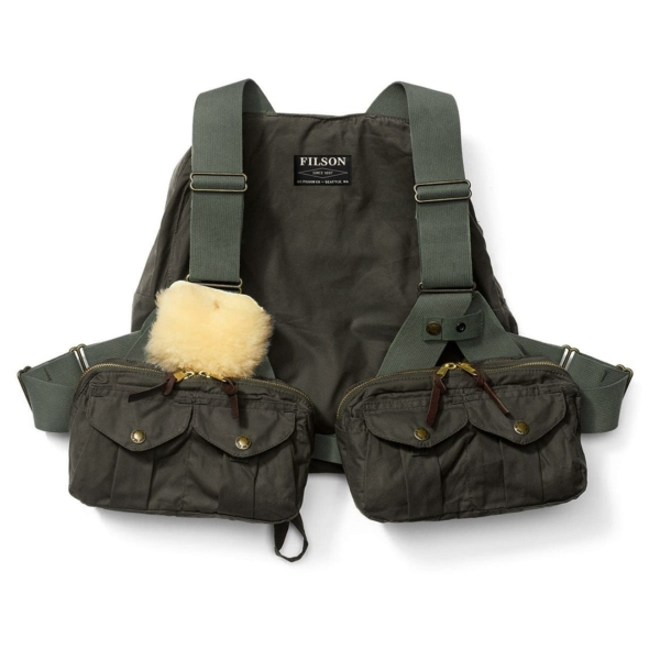 Filson Foul Weather Fly Fishing Vest Otter Green
