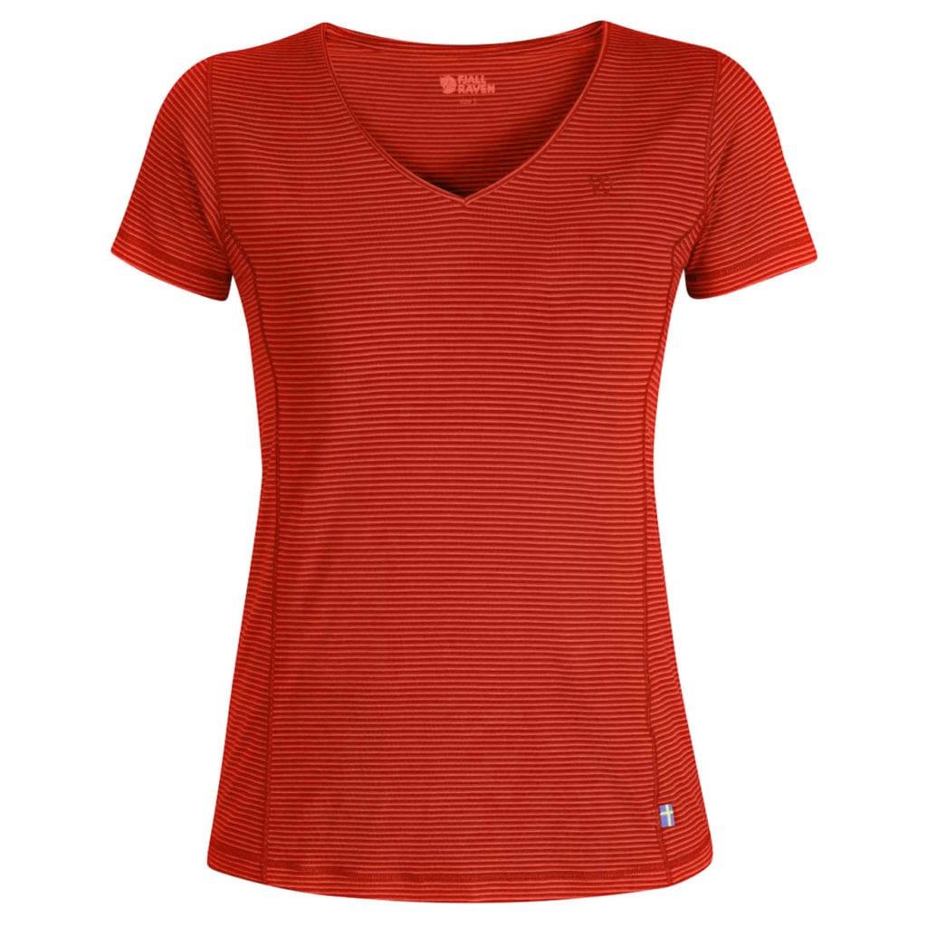 fjallraven womens abisko cool Tshirt coral