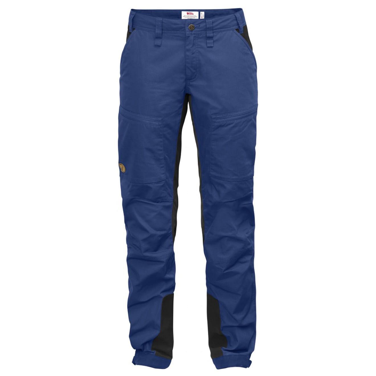 Fjallraven Womens Abisko Lite Trekking Trousers Deep Blue Dark Grey