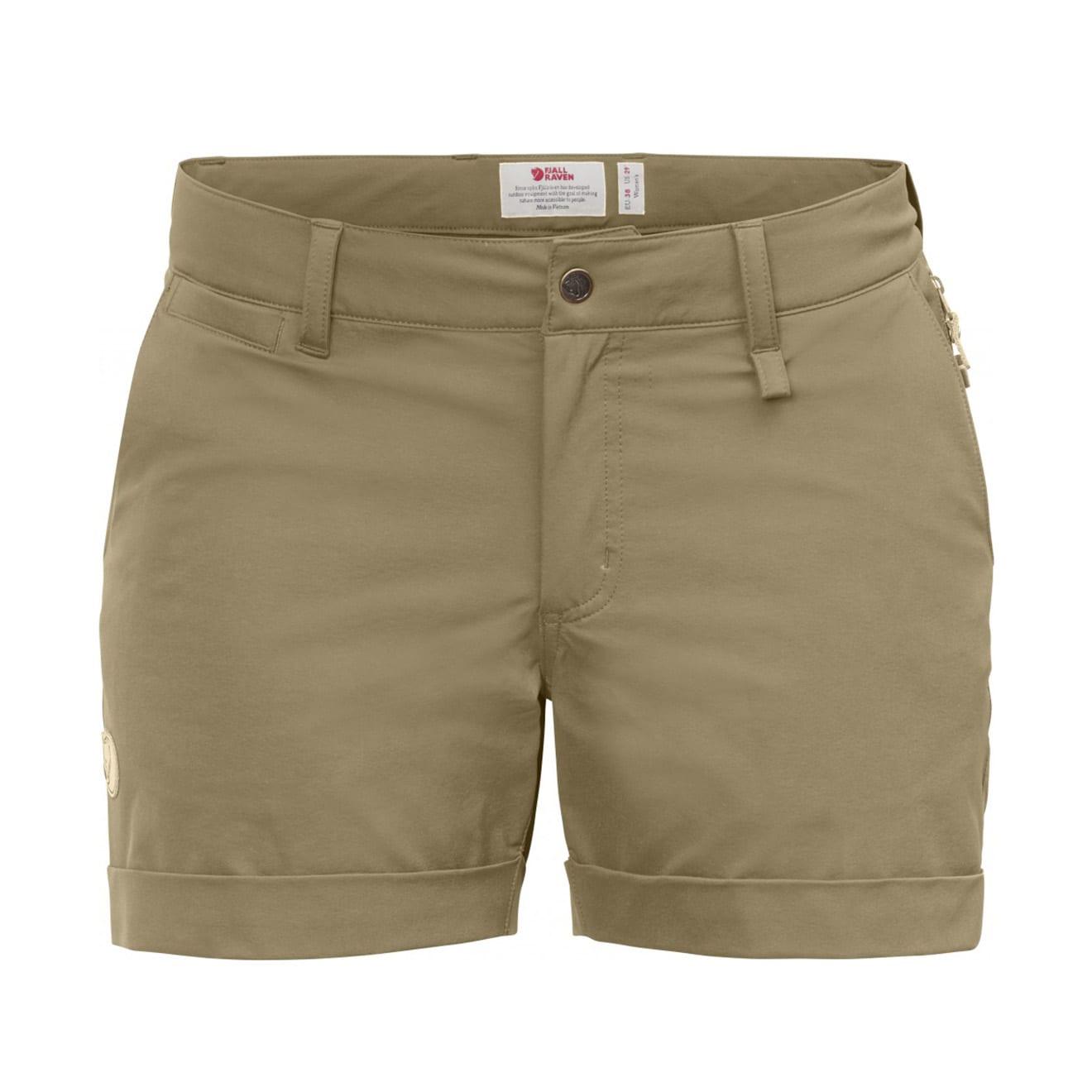 Fjallraven Womens Abisko Stretch Shorts Sand