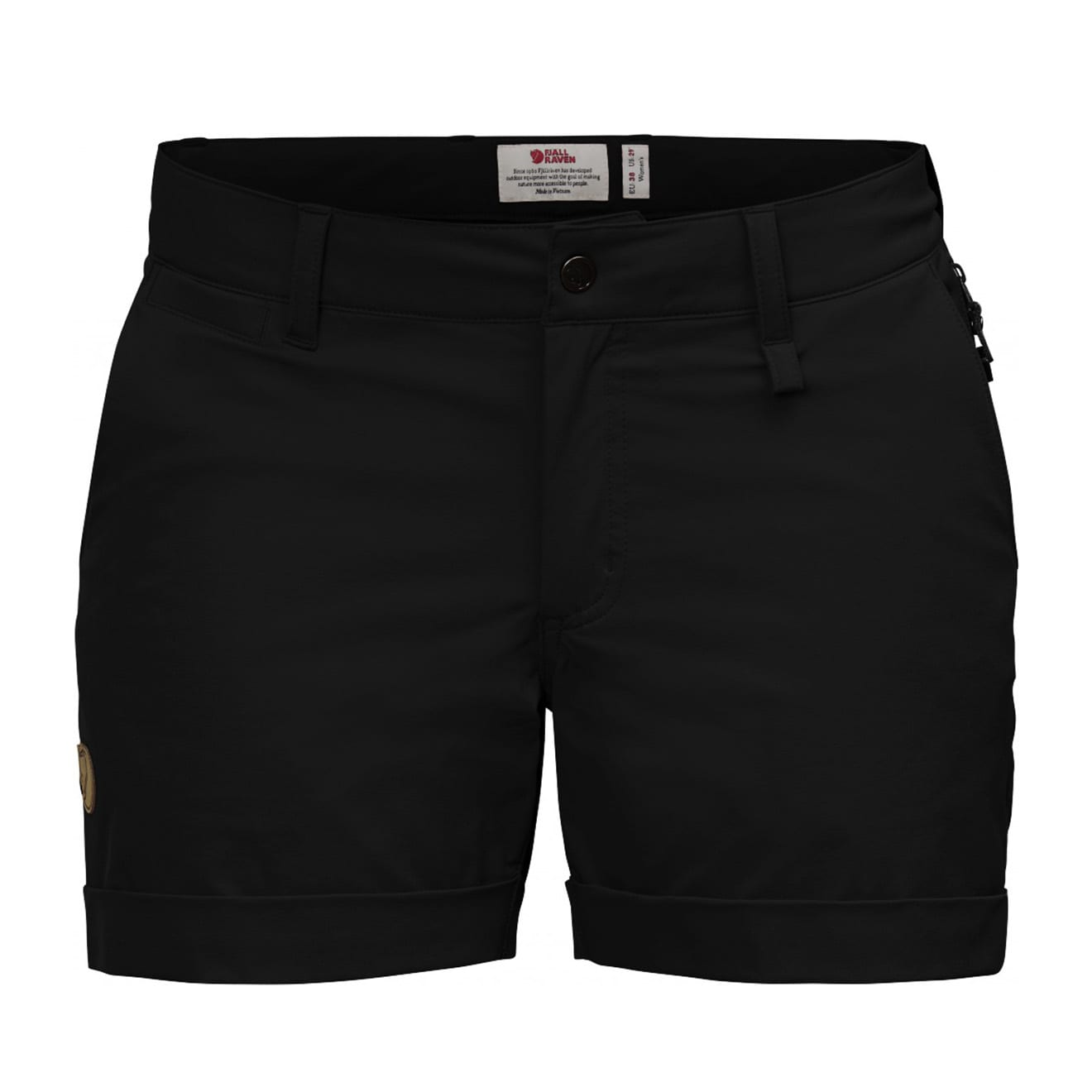 Fjallraven Womens Abisko Stretch Shorts Black