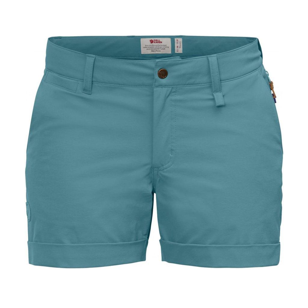 Fjallraven Womens Abisko Stretch Shorts Lagoon