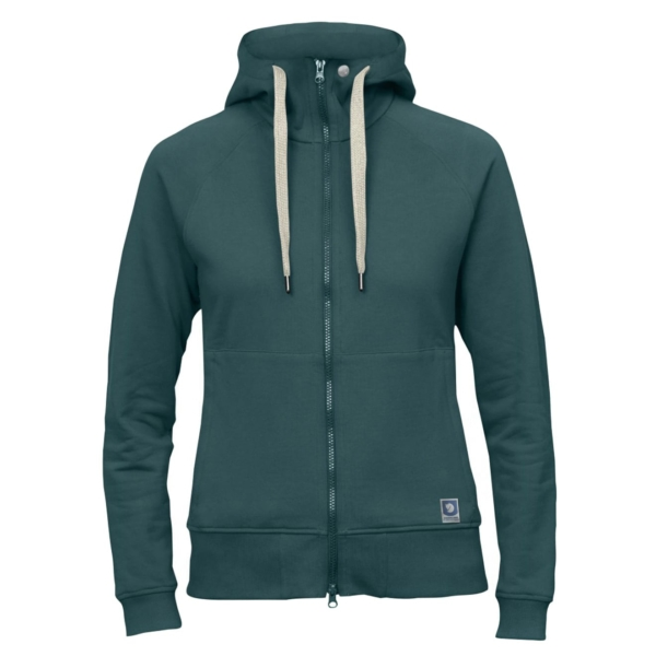 Fjallraven Womens Greenland Zip Hoodie Frost Green