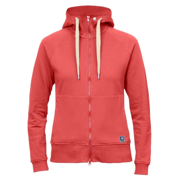 Fjallraven Womens Greenland Zip Hoodie Peach Pink