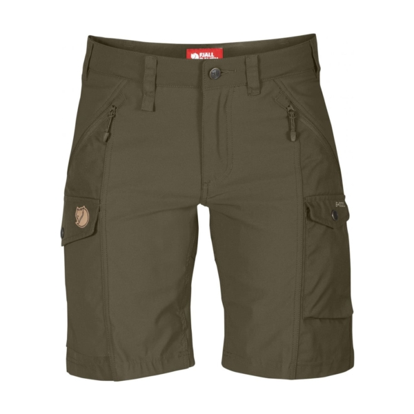 Fjallraven Womens Nikka Shorts Dark Olive