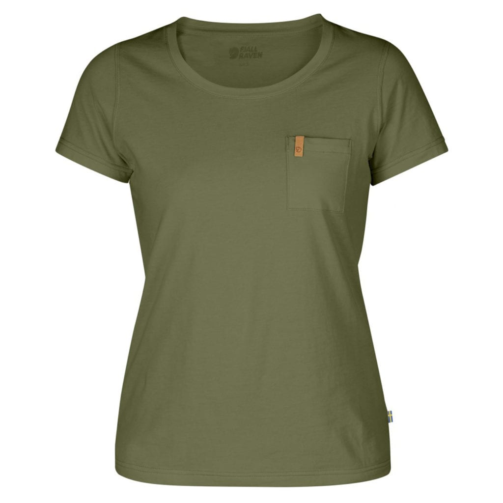 Fjallraven Womens Ovik T-Shirt Green