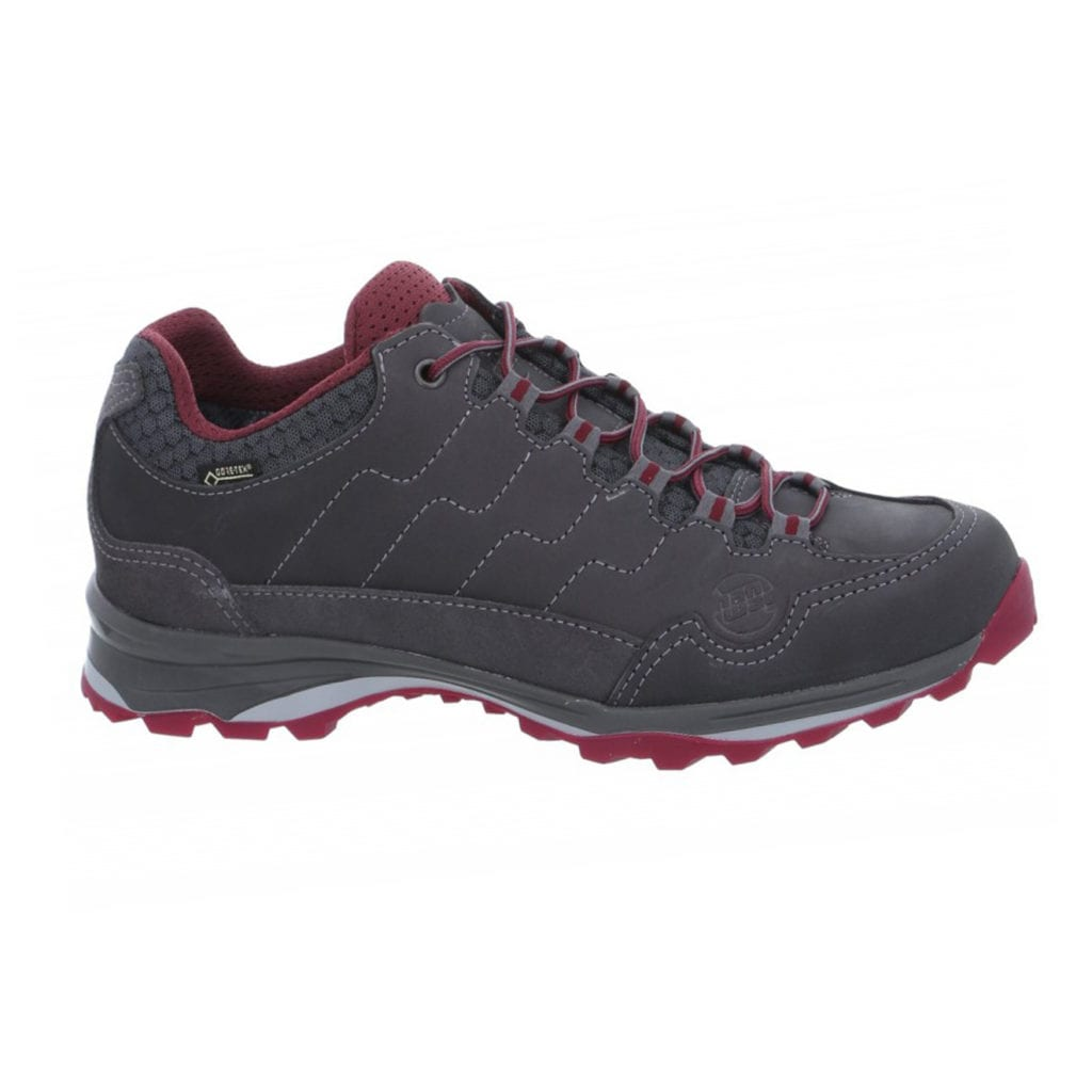 Hanwag Robin Light Lady GTX Walking Shoes Asphalt / Dark Garnet