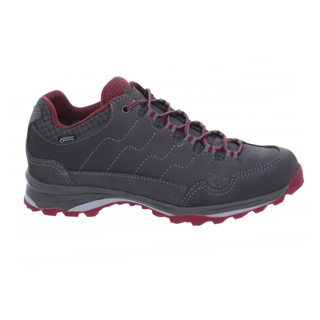 Hanwag Robin Light Lady GTX Walking Shoes Asphalt / Dark Garnet