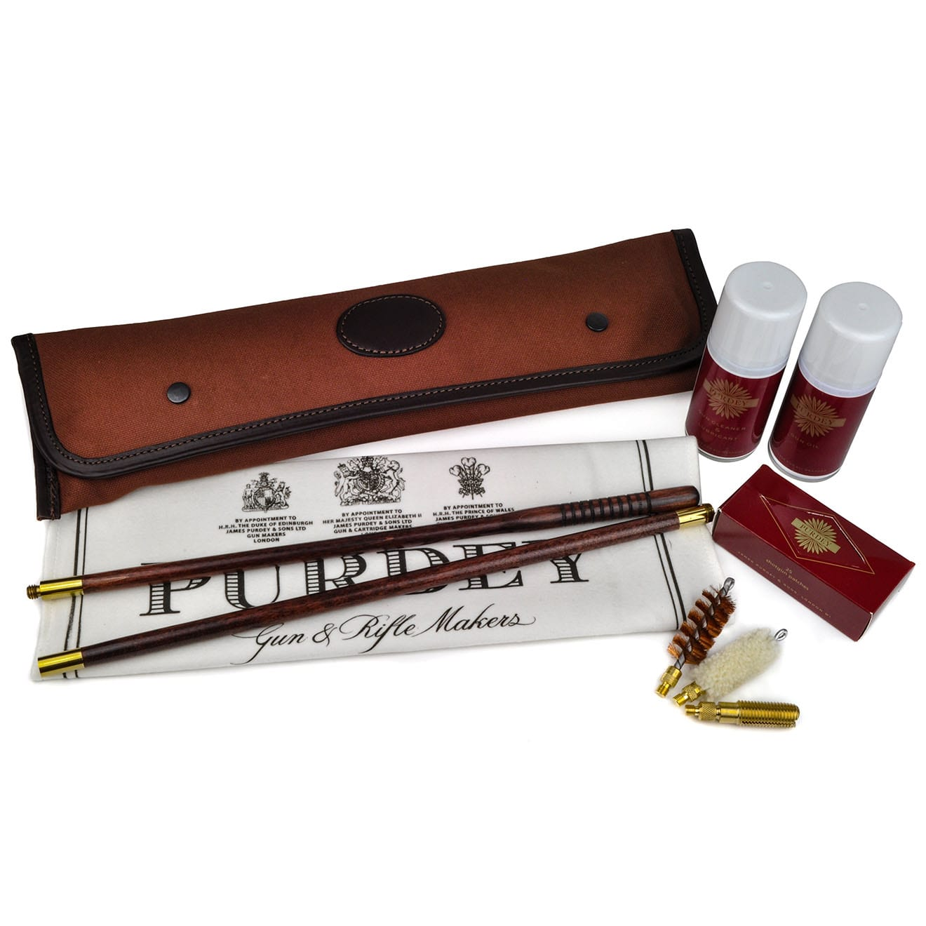 James Purdey Cleaning Kit Canvas with Fittings 12 Gauge
