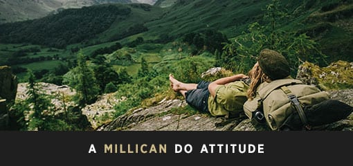 Relaxing Outdoors with Millican eco-friendly bag