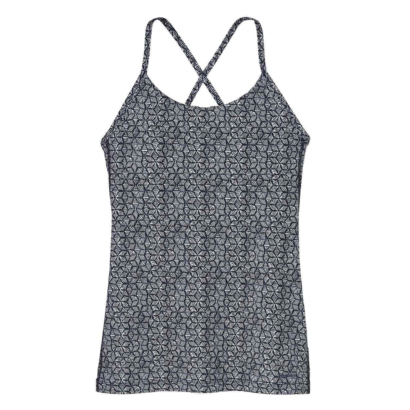 Birch White Patagonia Womens Cross Beta Tank Baltic Hex SALE