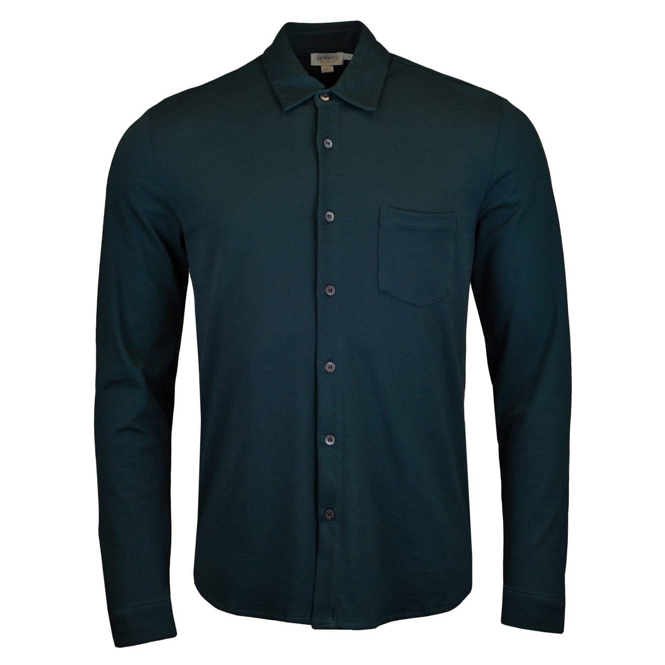 Sunspel Pique Polo Shirt Samphire
