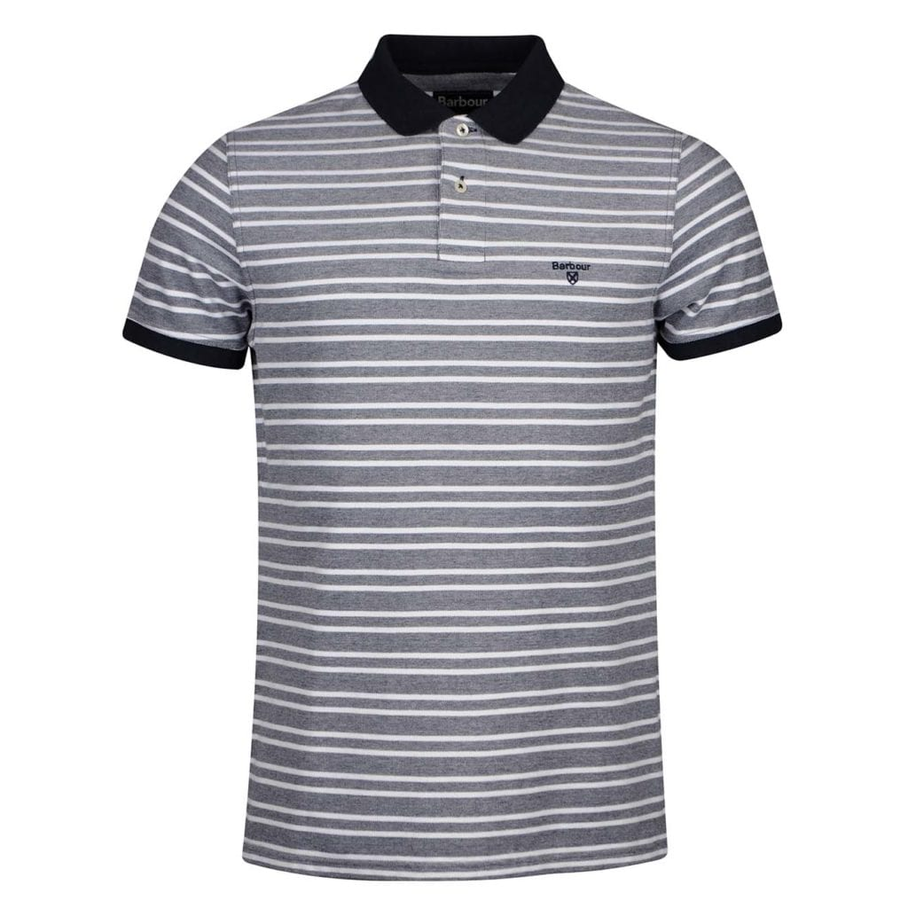 Barbour Bedford Stripe Polo Shirt Midnight