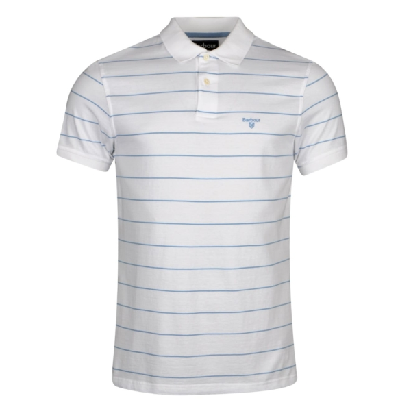 Barbour Bodmin Stripe Polo Shirt White