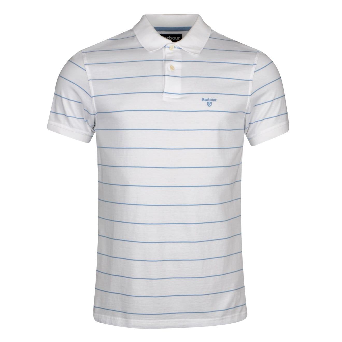 Barbour Bodmin Stripe Polo Shirt White