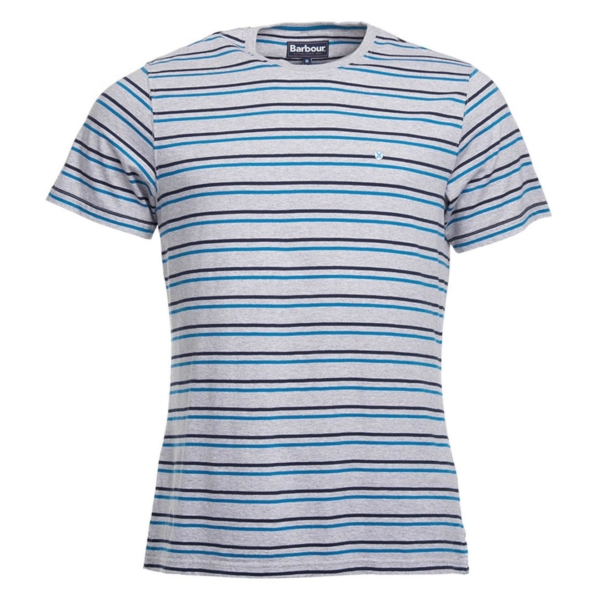 Barbour Duxford Stripe T-Shirt Grey Marl