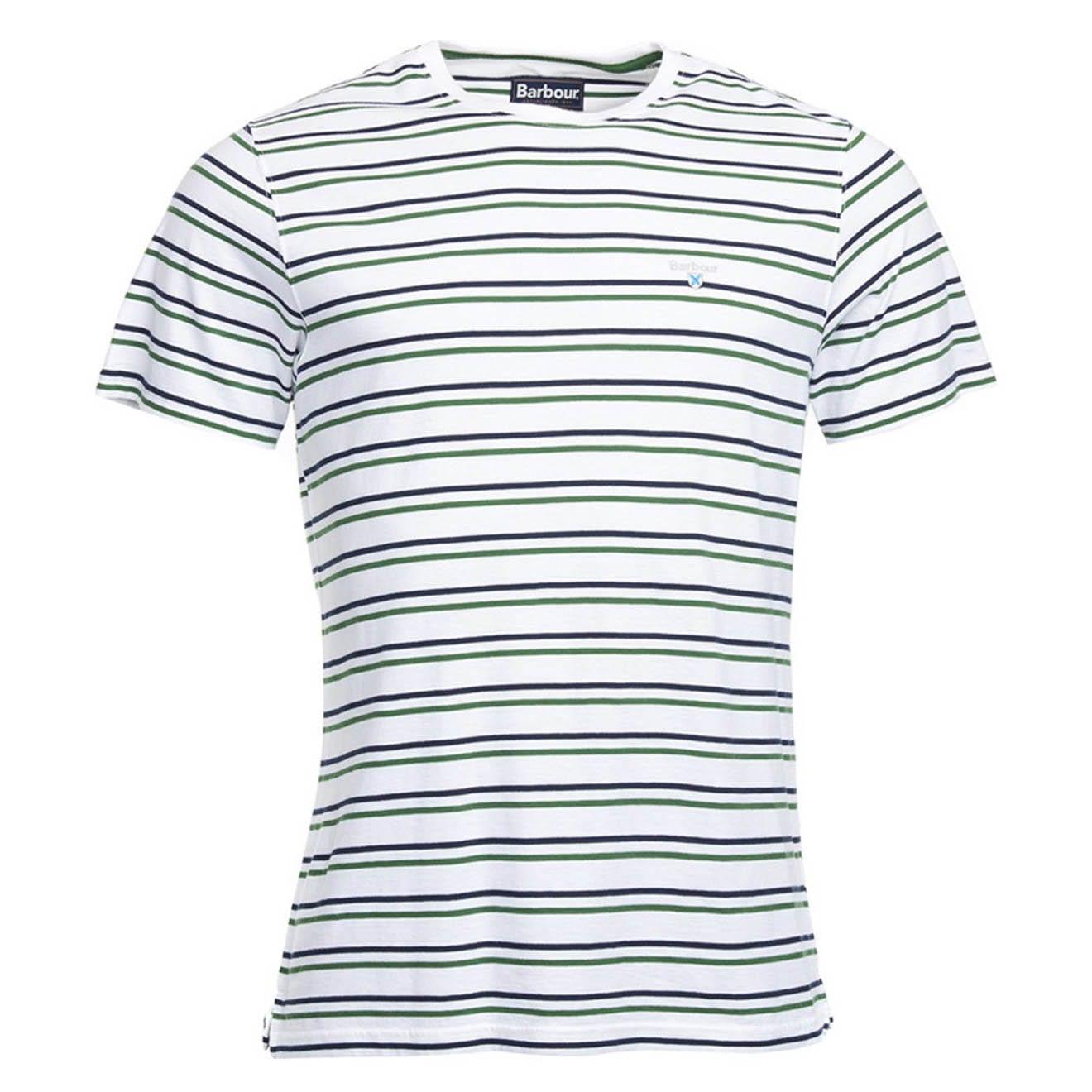 Barbour Duxford Stripe T-Shirt White