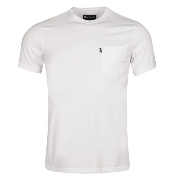 Barbour Essential One Pocket T-Shirt White