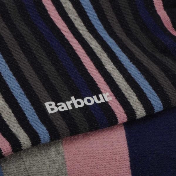 Barbour Heywood Socks Navy / Pink