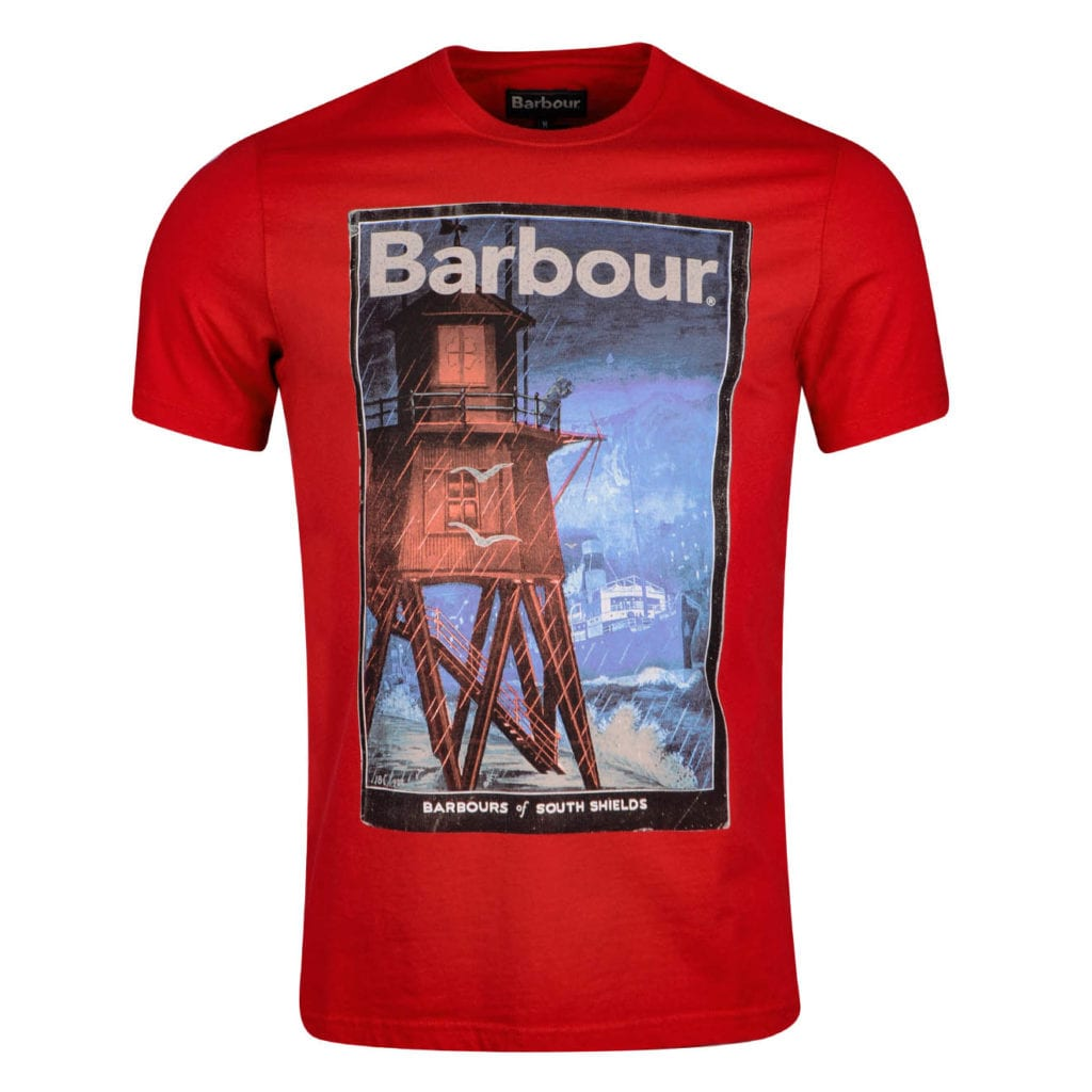 Barbour Historic T-Shirt Chilli