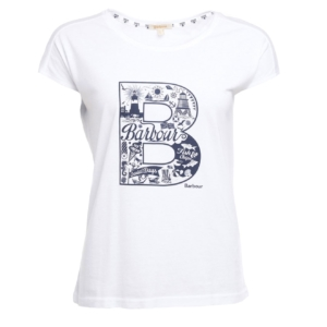 Barbour Womens Littlehaven T-Shirt White