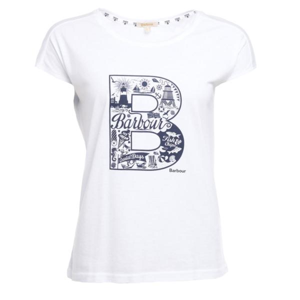 Barbour Womens Littlehaven T-Shirt White