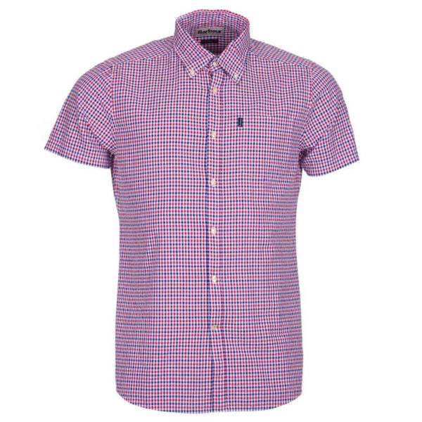 Barbour Newton Short Sleeve Shirt Navy