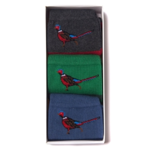 Barbour Pheasant Stripe 3 Pack Socks