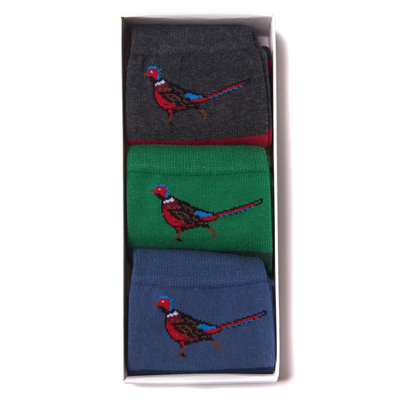 Barbour Pheasant Stripe 3 Pack Socks