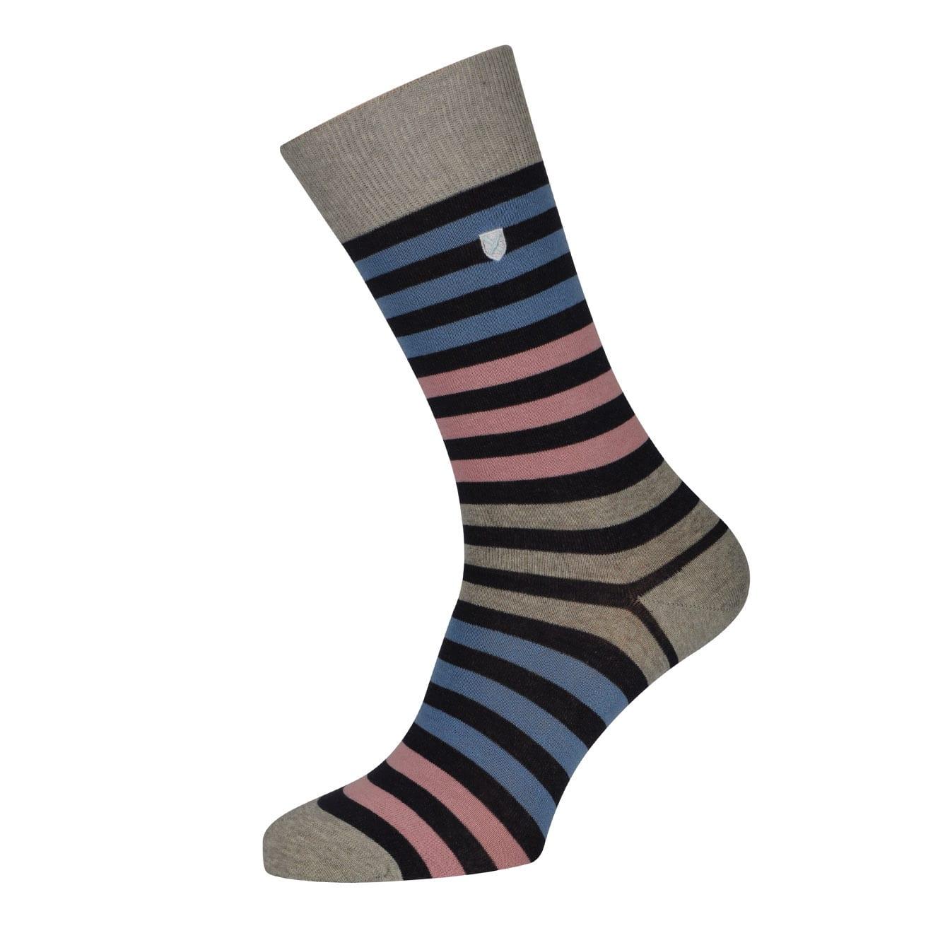 Barbour Royston Sock Grey / Pink