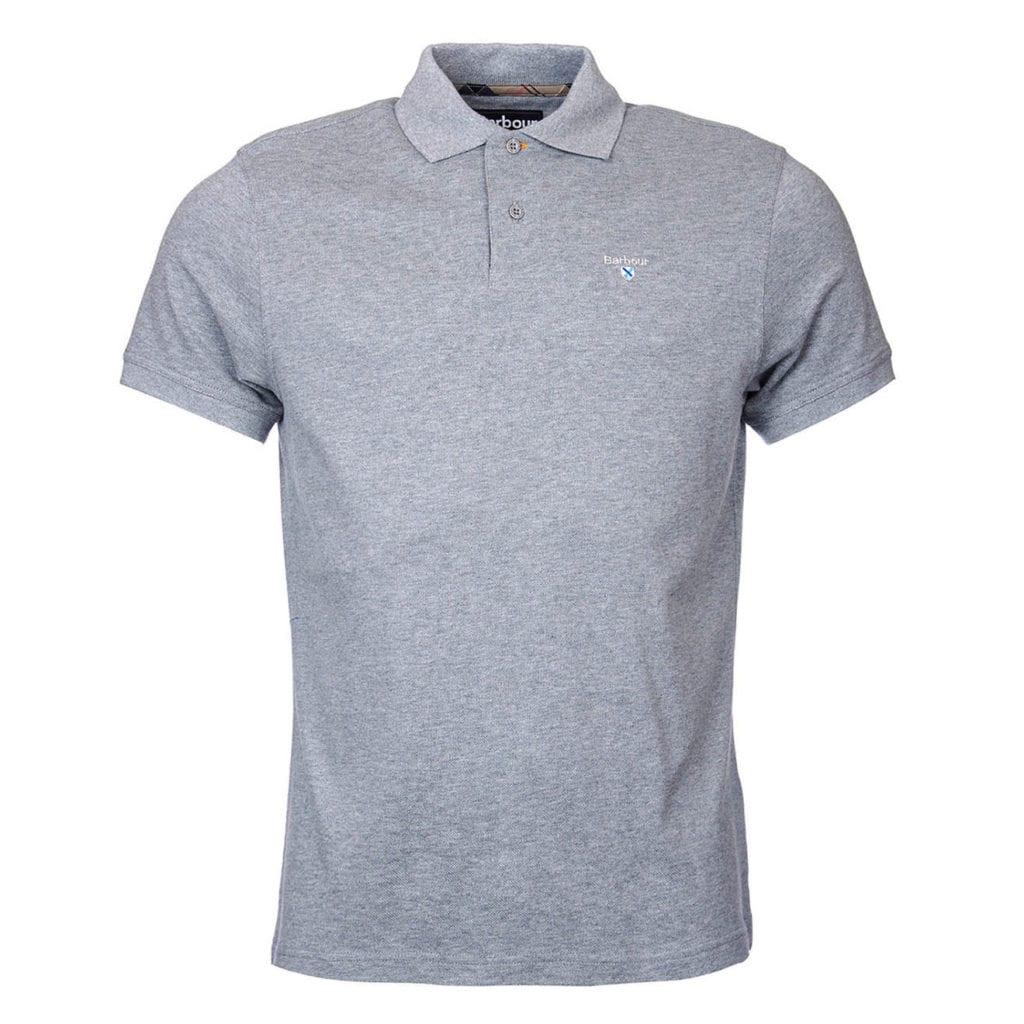 124548cd6b1b Barbour Tartan Cotton Pique Polo Shirt Grey Marl