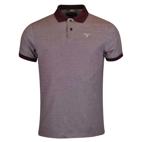 Barbour Tartan Cotton Pique Polo Shirt Ruby