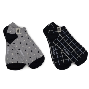 Barbour Womens Spot Check Cascade Sock 2 Pack