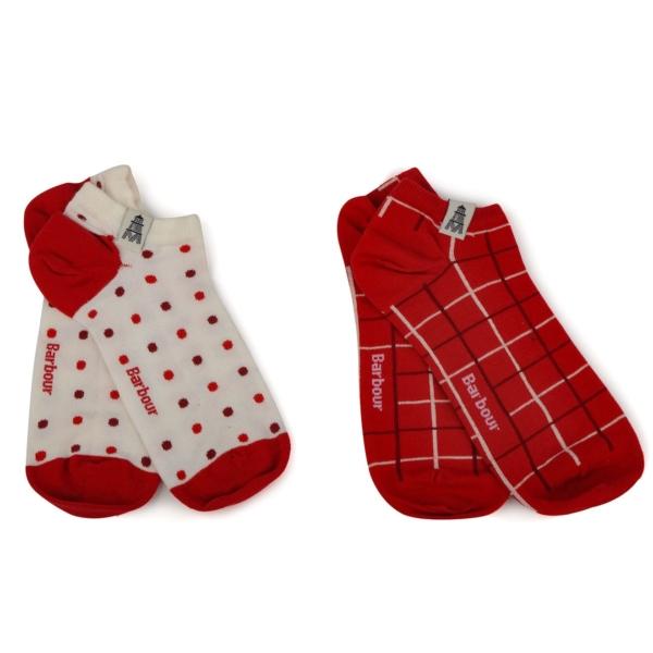Barbour Womens Spot Check Cascade Sock 2 Pack