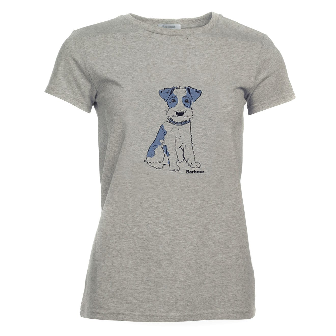 The Barbour Womens Brimham T-Shirt is crafted of a soft 100% cotton and features a Barbour fox terrier print to the front. A casual tee that'll style nicely with jeans.