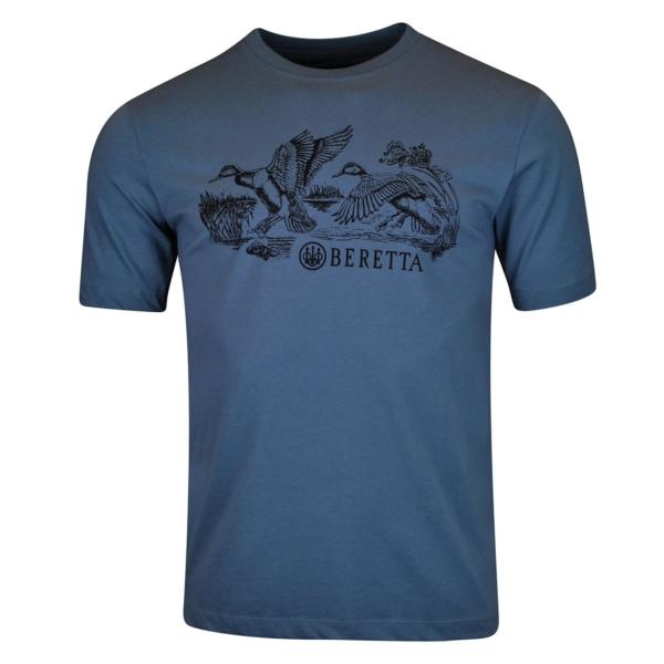 Beretta Engraving Ducks T-Shirt