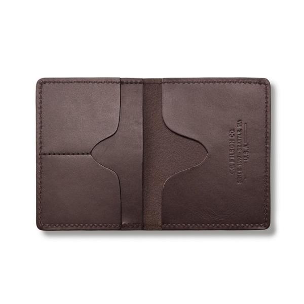 Filson Passport And Card Case Brown