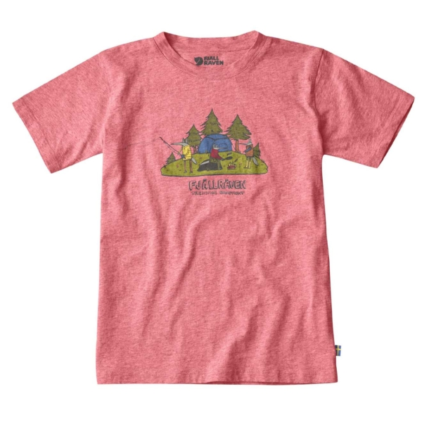 Fjallraven Kids Camping Foxes T-Shirt Peach Pink