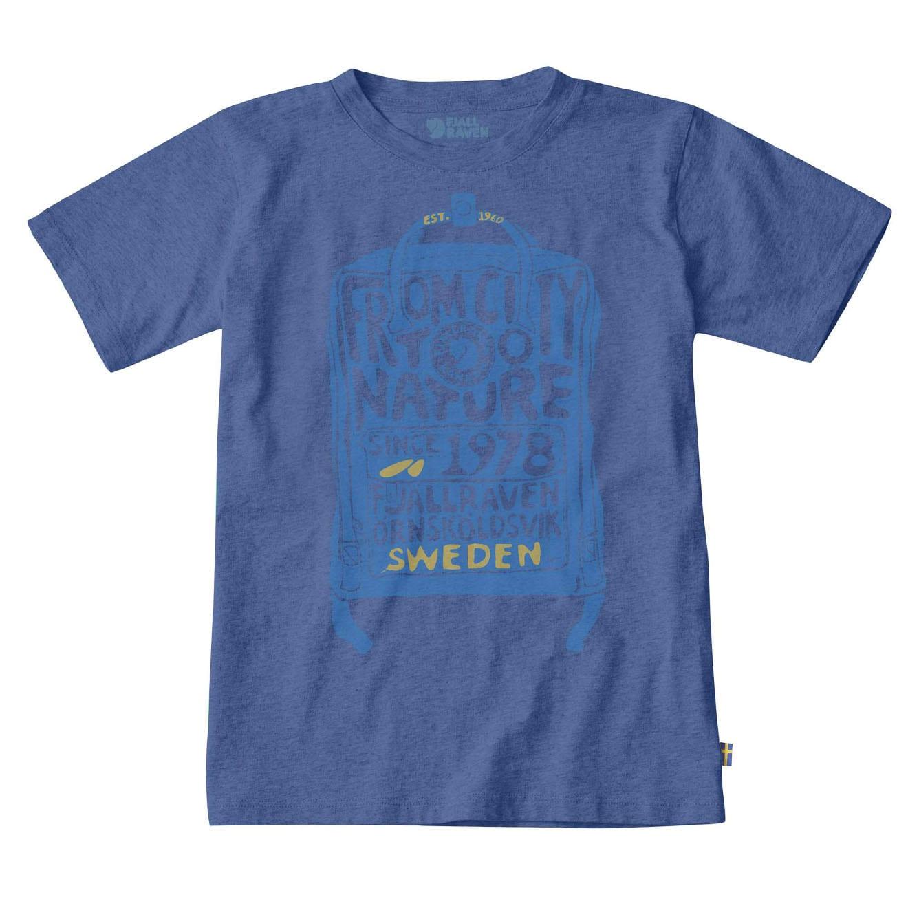 Fjallraven Kids Kanken Tshirt Deep Blue