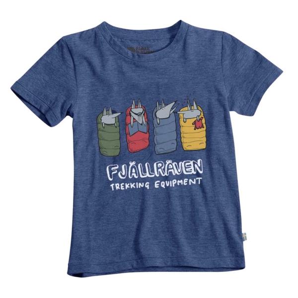 Fjallraven Kids Sleeping Foxes T-Shirt Deep Blue
