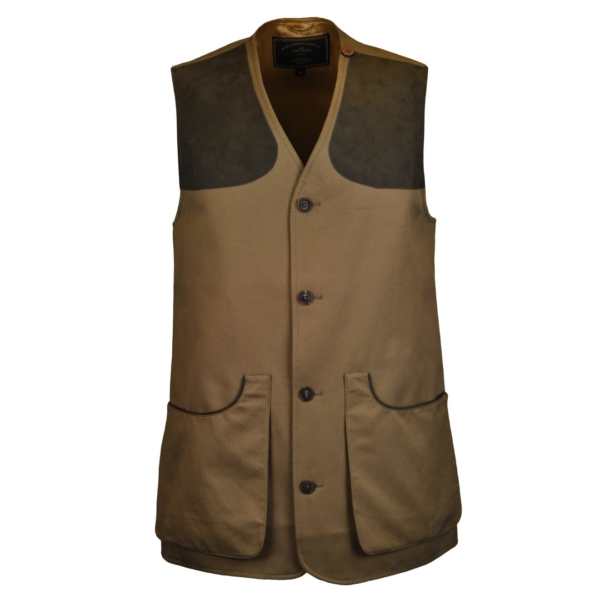 James Purdey Francoline Button Shooting Vest Khaki Green