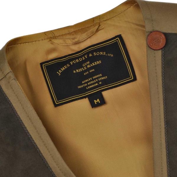 James Purdey Francoline Button Shooting Vest Khaki Green