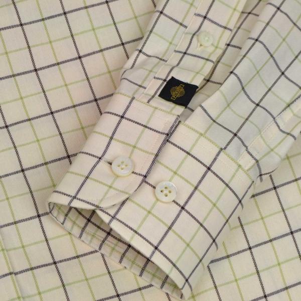 James Purdey Large Check Tattersall Shirt Sulphur