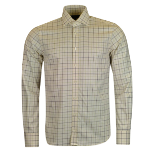 James Purdey Large Check Tattersall Shirt Sulphur