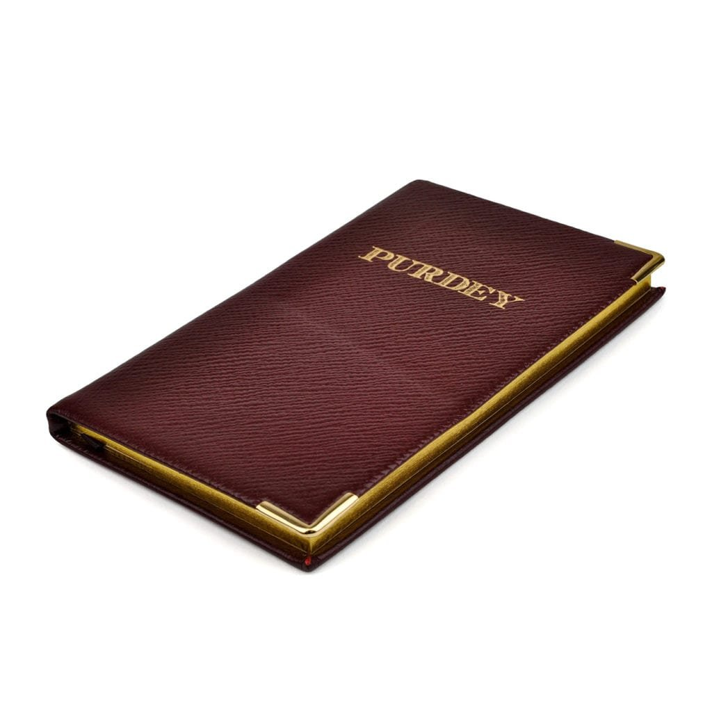 James Purdey Leather Pocket Diary 2018