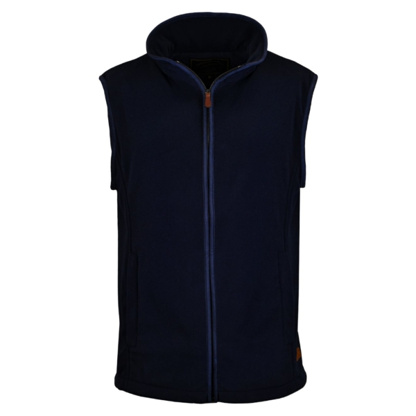 James Purdey Lightweight Fleece Gilet Navy