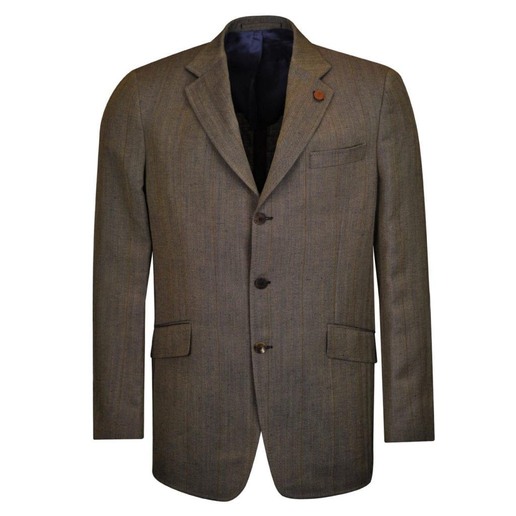 James Purdey Linen wool Chatsworth Jacket Navy