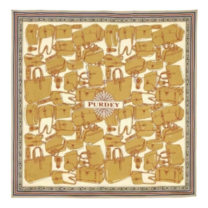 James Purdey Luggage Print Scarf Brown